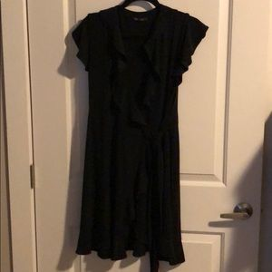 matte jersey wrap dress